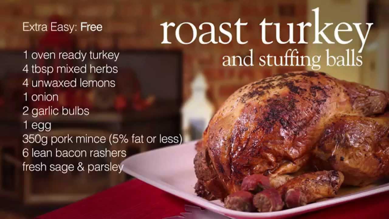 Slimming World Roast Turkey And Stuffing Balls Youtube