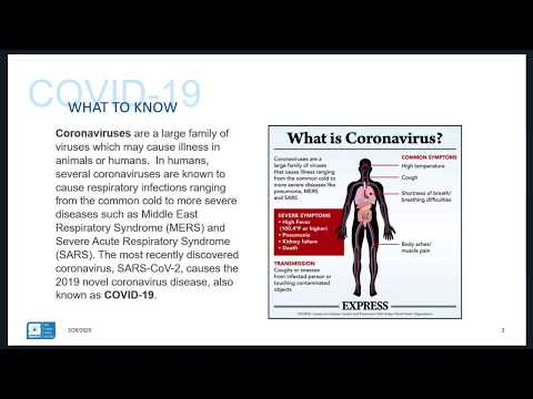 BROADCAST AUDIO & PRESENTATION: COVID-19 STOP THE SPREAD OF INFECTION