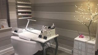 Quick Home Nail Salon Tour  Box Room   Inspiration