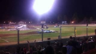 monster truck rumble adelaide 18/2/12. TAZ crash