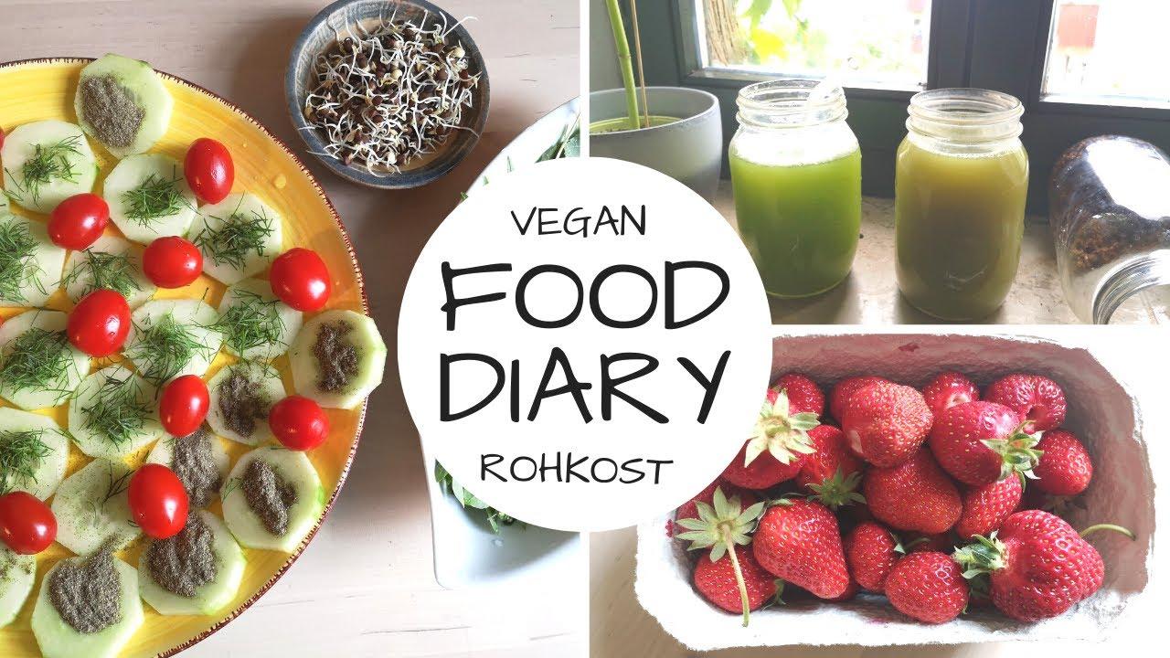 Das esse ich an 2 Tagen - Rohkost/vegan/ eine Mahlzeit am Tag!