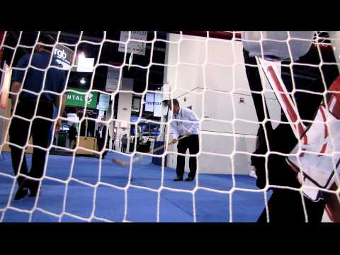A Little Hockey Fun At NAB With VidOvation GoalCam