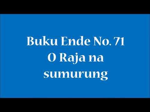 Buku Ende No 71 O Raja na sumurung