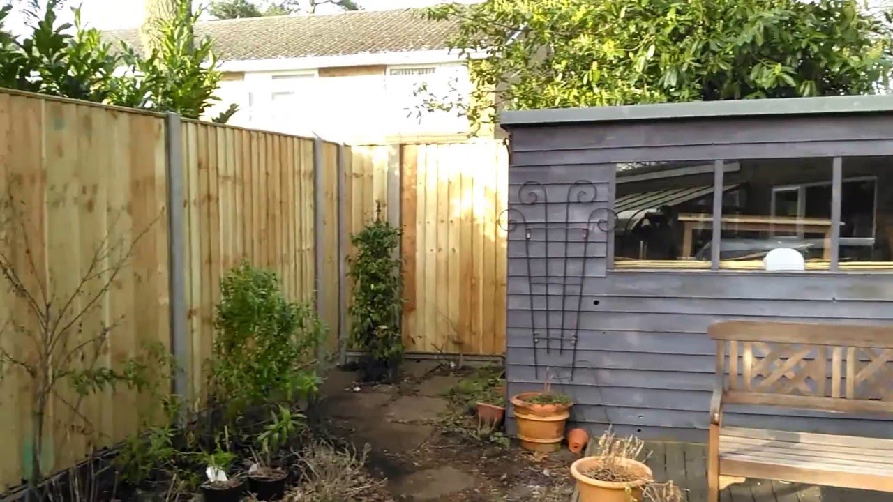 closeboard panel fence with concrete posts youtube