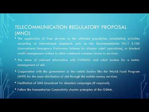 Proposal for Disaster Response Telecommunications in Honduras