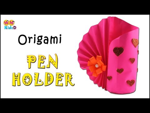 DIY Paper Pen Stand | How to make Pen Stand | Paper Pencil Stand | Origami Pen Stand Your Videos