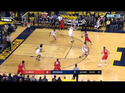 Big Ten Basketball Highlights: Illinois at Michigan