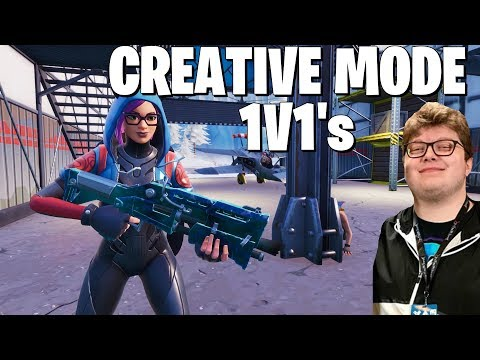 Creative Mode Fights With Ghost Aydan and Pro Player ExoticChaotic (Fortnite Battle Royale)
