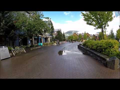 A walk through The Village @ Whistler Canada August 2015 with GoPro & Gimbal