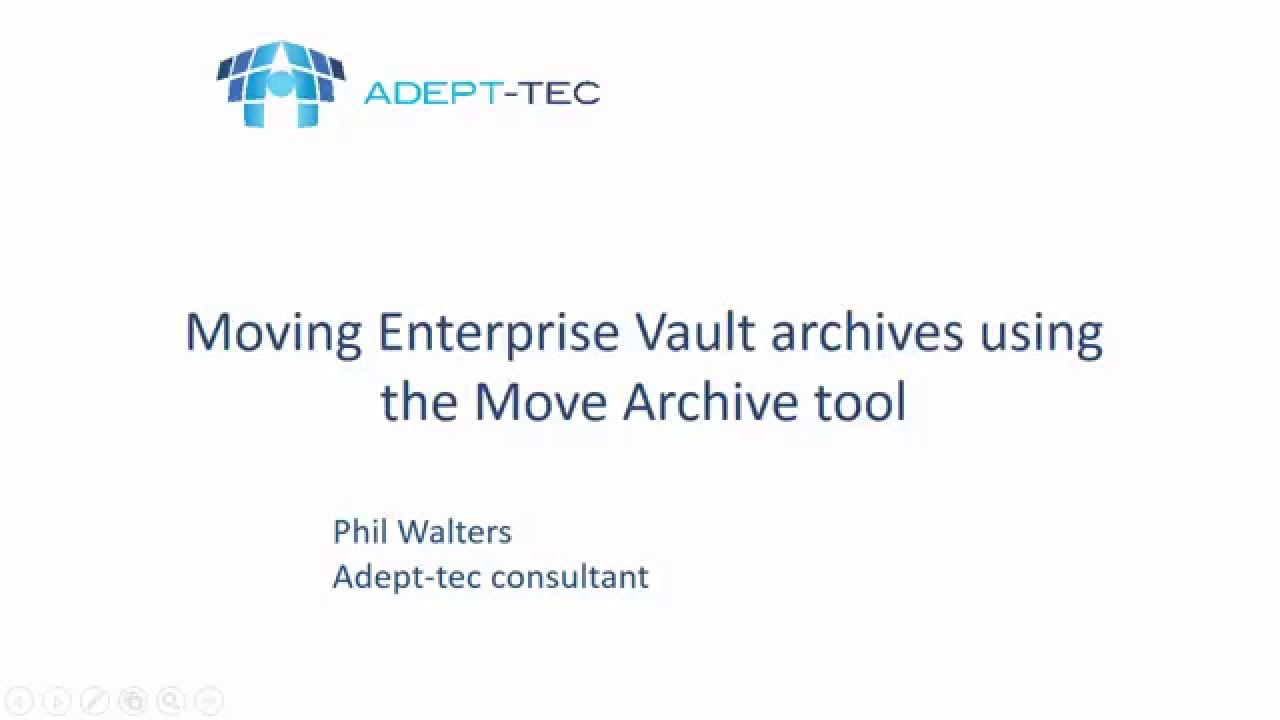 Moving Enterprise Vault archives using the Move Archive tool - Part 1
