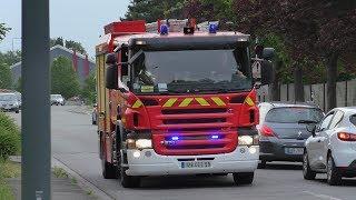 Départ du FPT 01 Sapeurs-Pompiers CIS de Lomme SDIS 59 Lille (France)