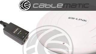Antena de techo con router WIFI 300 Mbps 802.11-n/g/b 1 WAN distribuido por CABLEMATIC ®