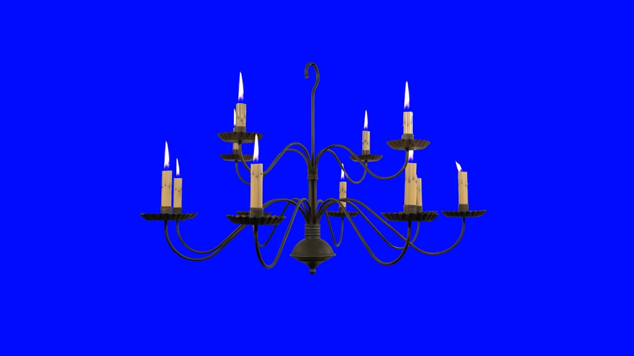Chandelier with burning candles green screen animation youtube chandelier with burning candles green screen animation arubaitofo Choice Image