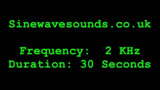 2KHz / 2000 Hz Test tone / Sound - Tweeter Test