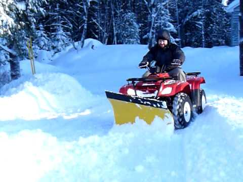 Plowing Snow With The Suzuki Eiger Country Plow Is That All You