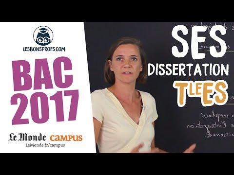 SES TES - Corrigé de la dissertation - Les Bons Profs