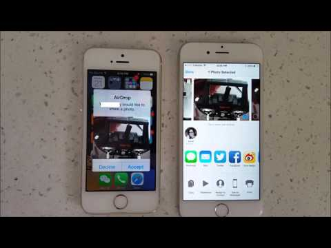 ALL IPHONES: HOW TO USE AIRDROP TO TRANSFER PHOTOS, VIDEOS, CONTACTS, ETC