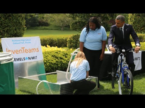 President Obama Tours the 2013 White House Science Fair