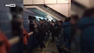 Первые секунды после взрыва метро в Санкт Петербурге 3 апреля 2017