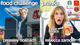 Starbucks & Chick-fil-A Food Challenge *and Pranking Rebecca Zamolo*