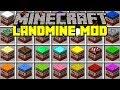 Minecraft LANDMINE MOD! | CAMO TROLLING BLOCKS, INVISIBLE TRAPS, & MORE! | Modded Mini-Game