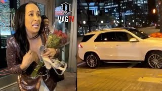 Ari Fletcher Surprises Mom With A Benz For Her 50th B-Day! 🚙