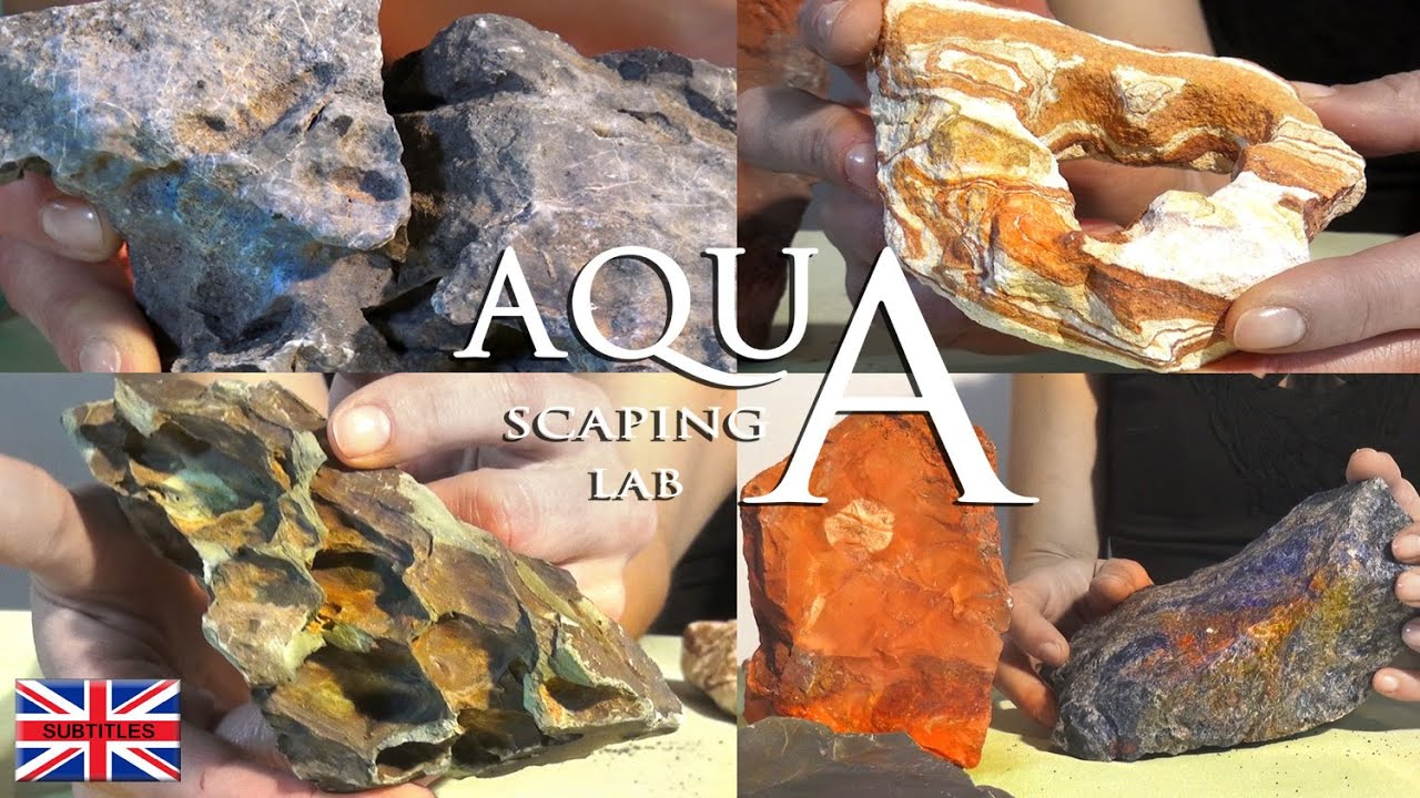 Aquascaping Lab Aquarium Rocks Dragon Stone Seiryu Stone Slate Rainbow Pagoda Quartz Sodalite