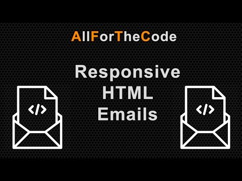 Creating a responsive HTML Email using Tables and Inline CSS for best email client compatibility.