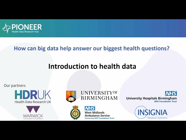 Introduction to Health Data
