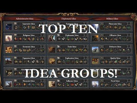 The Top Ten Idea Groups in EU4!