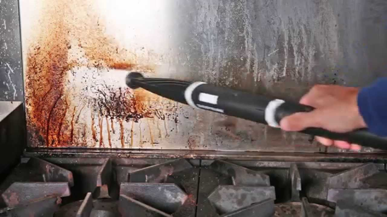 How to Clean a Commercial Kitchen with a Steam Cleaner - YouTube