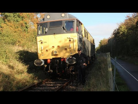 HD Train Driving Experience on Class 31206 Diesel, Rushden Transport Museum, 19th October 2016