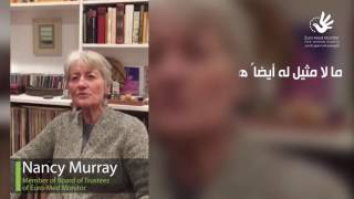 Nancy Murray,  Member of Board of Trustees, on the 5th anniversary of the organization