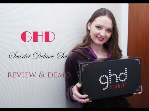 GHD scarlet set (hair iron and dryer) review and demo!