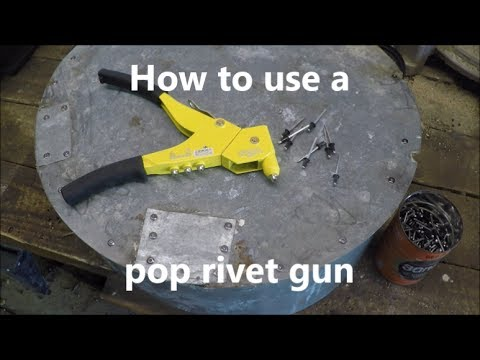 How to use a pop rivet gun; using a squeeze riveter
