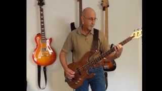 Carvin 4-String Bass Guitar Kit (model# bk40) Demo