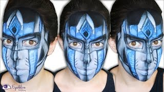 Optimus Prime Inspired Makeup Face Paint by EyedolizeMakeup