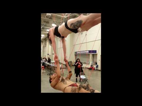 Tandem hook suspension Amanda and Blair - Mecca 2015 from YouTube · Duration:  1 minutes 12 seconds