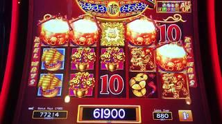 """2 Dancing Drums Video Slot Machine—""""Bonuses"""" $8.80 Max Bet"""