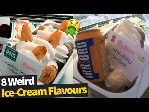 8 Extremely Unusual Ice Cream Flavours!