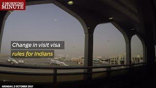 Change in visit visa rules for Indians