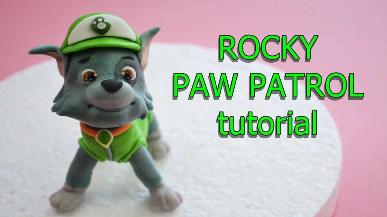 How To Make Rocky Paw Patrol Cake Topper Fondant