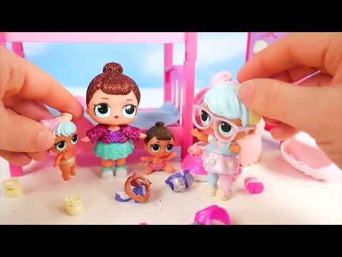 Lol Surprise Dolls Lil Sisters Sleep In Barbie Bunk Beds Kak
