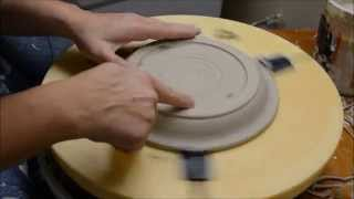 How to Trim a Thrown Plate- on a Giffin Grip