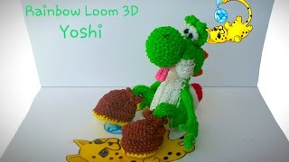 Rainbow Loom 3D Yoshi (Part 5/15)