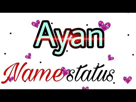 Ayan name status _ chann punjabi song Romantic whatsapp status by name love status