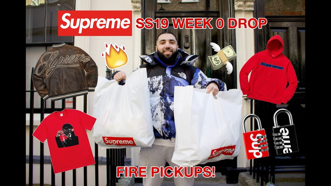 57925a44b387 SUPREME WEEK 0 1 SS19 LONDON INSTORE PICKUPS! + STOCKX POPUP - YouTube