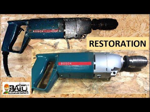 ✅✅✅ RESTAURACION de taladro eléctrico | RESTAURACION de taladro BOSCH muy antiguo 2021 ✅✅✅