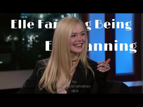 elle fanning being elle fanning