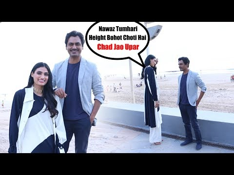 Motichoor Chaknachoor Cast Spotted At Juhu | Nawazuddin Siddiqui and Athiya Shetty